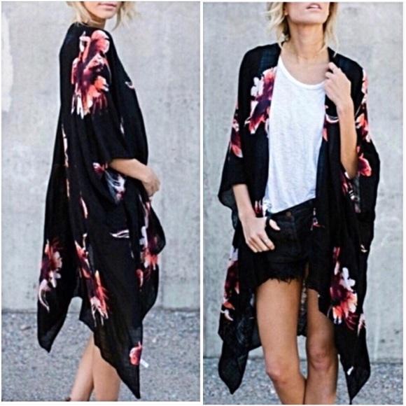 07719cc995 Swim | Boho Chic Kimono Wrap Coverup Os | Poshmark